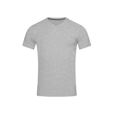 ST9610 Clive V-neck T-shirt ST9610-GREY-HEATHER-S